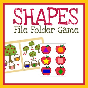 Matching Shapes File Folder Game, Printable Worksheet, Quiet Book Activity