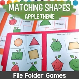 Matching Shapes File Folder Games FALL THEME