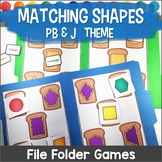 Shapes File Folder Games Peanut Butter and Jelly