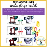 Matching Shapes Fine Motor Links Preschool