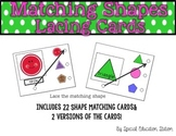 Matching Shapes Lacing Cards