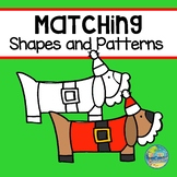 Matching Shapes and Patterns--Christmas File Folder Game
