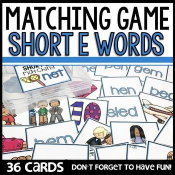 Matching Short Vowel Sounds GAMES BUNDLE