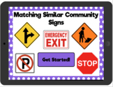 Distance Learning Matching Similar Community Signs: Intera