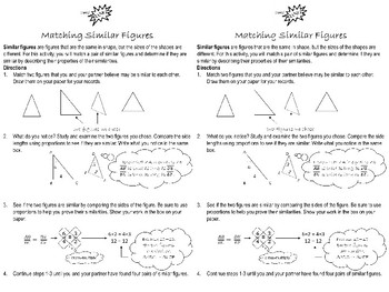 Matching Similar Figures Learning Center