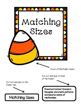 Matching Sizes  Candy Corn File Folder Game