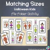 Matching Sizes - Halloween Kids File Folder Activity