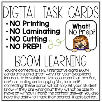 Matching Skills Digital Task Cards for Special Education