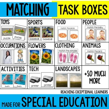 Matching Skills Task Box Activities for Special Education