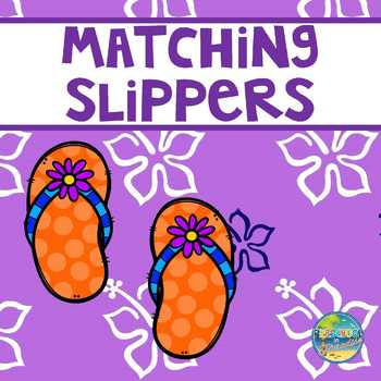 Matching Slippers--File Folder Game