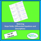 Matching Slope Fields, Differential Equations, and Descriptions