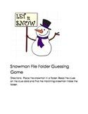 Matching Snowman File Folder Game