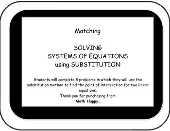 Matching. Solving Systems of Equations.