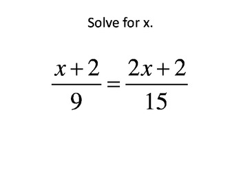 Matching- Solving equations in one variable