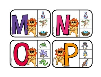 Matching Sounds to Letters - Phonics Clip Cards for Independent Practice: Lion