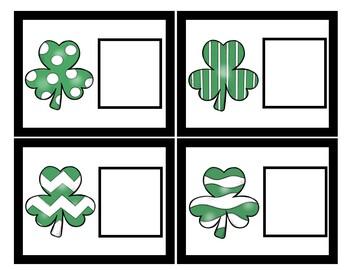 Matching Spring Shamrocks- Task Cards