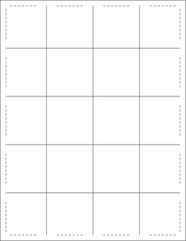 Free Matching Squares Puzzle Templates
