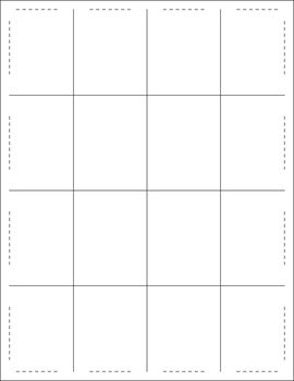 Free Matching Squares Puzzle Template