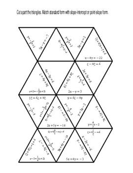 Standard Form To Slope Intercept Form Puzzle Worksheets ...