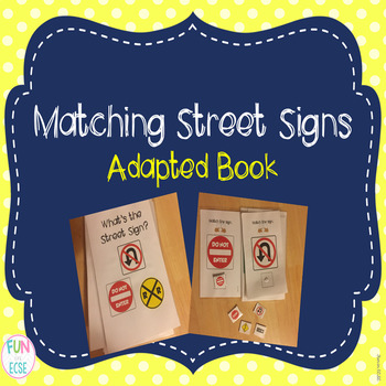 Matching Street Signs Adapted Book