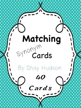 Matching Synonym Cards
