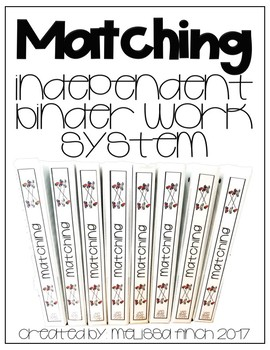 Matching- T.E.A.C.C.H. Independent Binder Work System