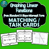 MATCHING / TASK CARDS - Standard & Slope-Intercept Form & Graphing of Lines