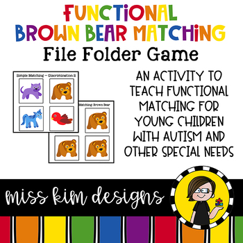Matching Folder Game: Simple Brown Bear Icons for Special