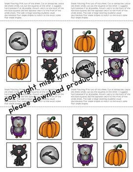 Matching Folder Game: Simple Fall Icons for Early Childhood Special Education
