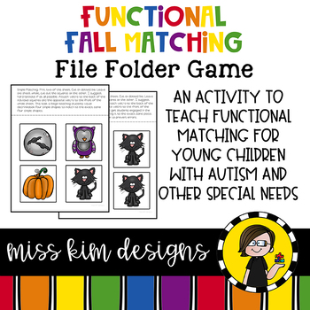 Matching Folder Game: Simple Fall Icons for students with Autism