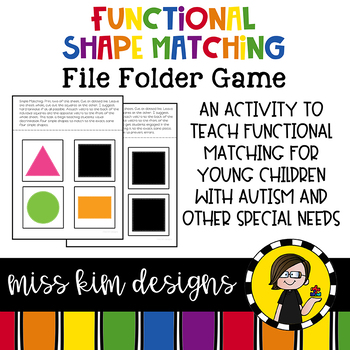 Matching Folder Game : Simple Shapes for Early Childhood Special Education