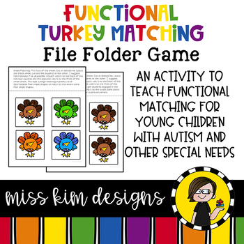 Matching Folder Game: Simple Turkey Colors for Early Childhood Special Education