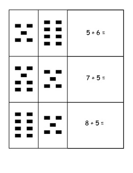 Matching Teen Numbers To Visuals and Addition Facts Common Core Aligned