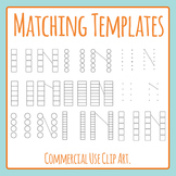 Matching Templates (Blank Templates) Clip Art Set for Commercial Use