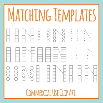 Matching Templates (Blank Templates) Clip Art Set for Comm