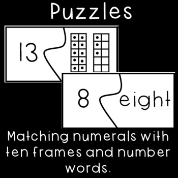 Matching Ten Frames and Number Words- Numbers within Twenty