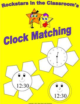 Matching Time Clock Flowers