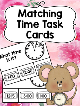 Matching Time Task Cards