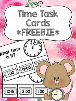 Matching Time Task Cards *FREEBIE*