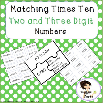 Matching Times Ten: Two and Three Digit Numbers