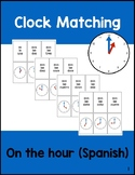 Matching Times on the Hour in SPANISH: Printable Cards