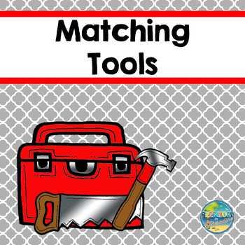 Matching Tools File Folder Game