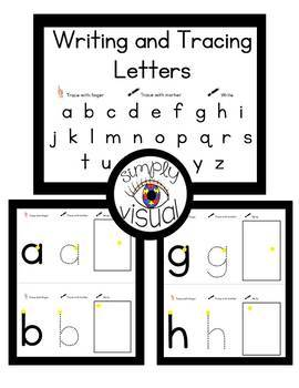 Matching, Tracing, and Writing Letters for Mini Binder Bundle