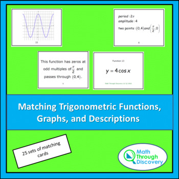 Matching Trigonometric Functions, Graphs and Descriptions