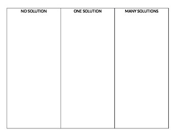 Matching Types of Solutions