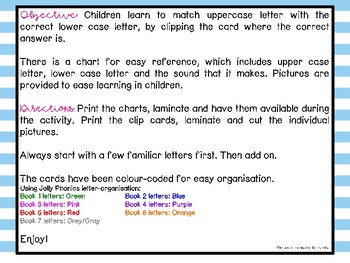 Matching UPPERCASE & lowercase letters with Bonus Chart