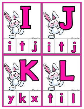 Spring/Easter Clip Cards - Matching Uppercase to Lowercase Letters