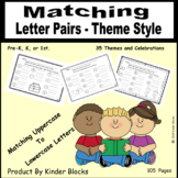 Matching Upper and Lower-Case Letters - Theme Style