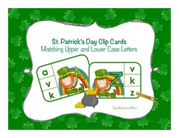 Matching Uppercase to Lowercase Letters - St. Patrick's Da
