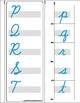 Montessori Matching Upper and Lowercase Cursive letters. A to Z